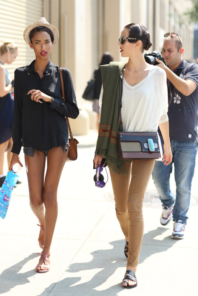 A fedora and a bold bag amped up the style power on these effortless looks, respectively. Source: Greg Kessler