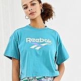 Reebok Classics Mint Vector Logo Cropped T-Shirt