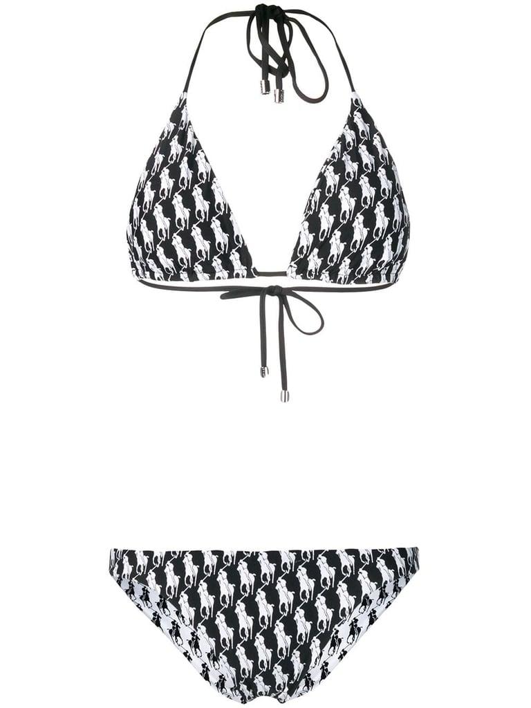 555983a713 Miley Cyrus Chanel Bikini Top and YSL Hat   POPSUGAR Fashion