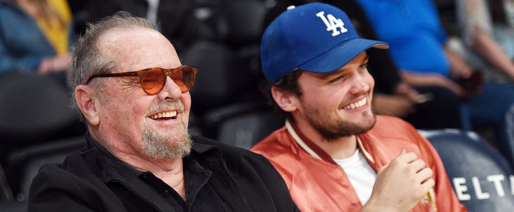 Jack Nicholson and His Son Ray Share a Laugh Courtside at the Lakers Game