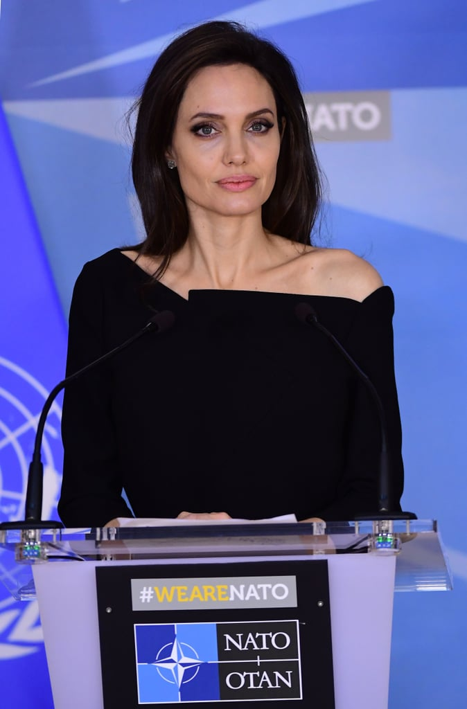 Angelina Jolie at NATO Headquarters in Belgium January 2018