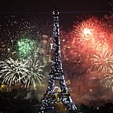 The Eiffel Tower sparkled for Bastille Day.