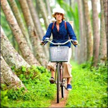 Elizabeth uses her bike to navigate her way around Bali, Indonesia.