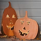 LED Galvanized Jack-o'-Lantern