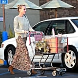 Diane Kruger stylishly went to the grocery store.