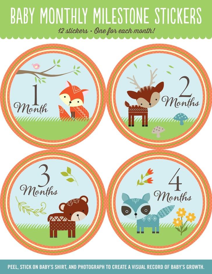 Woodland Friends Monthly Milestone Stickers Woodland