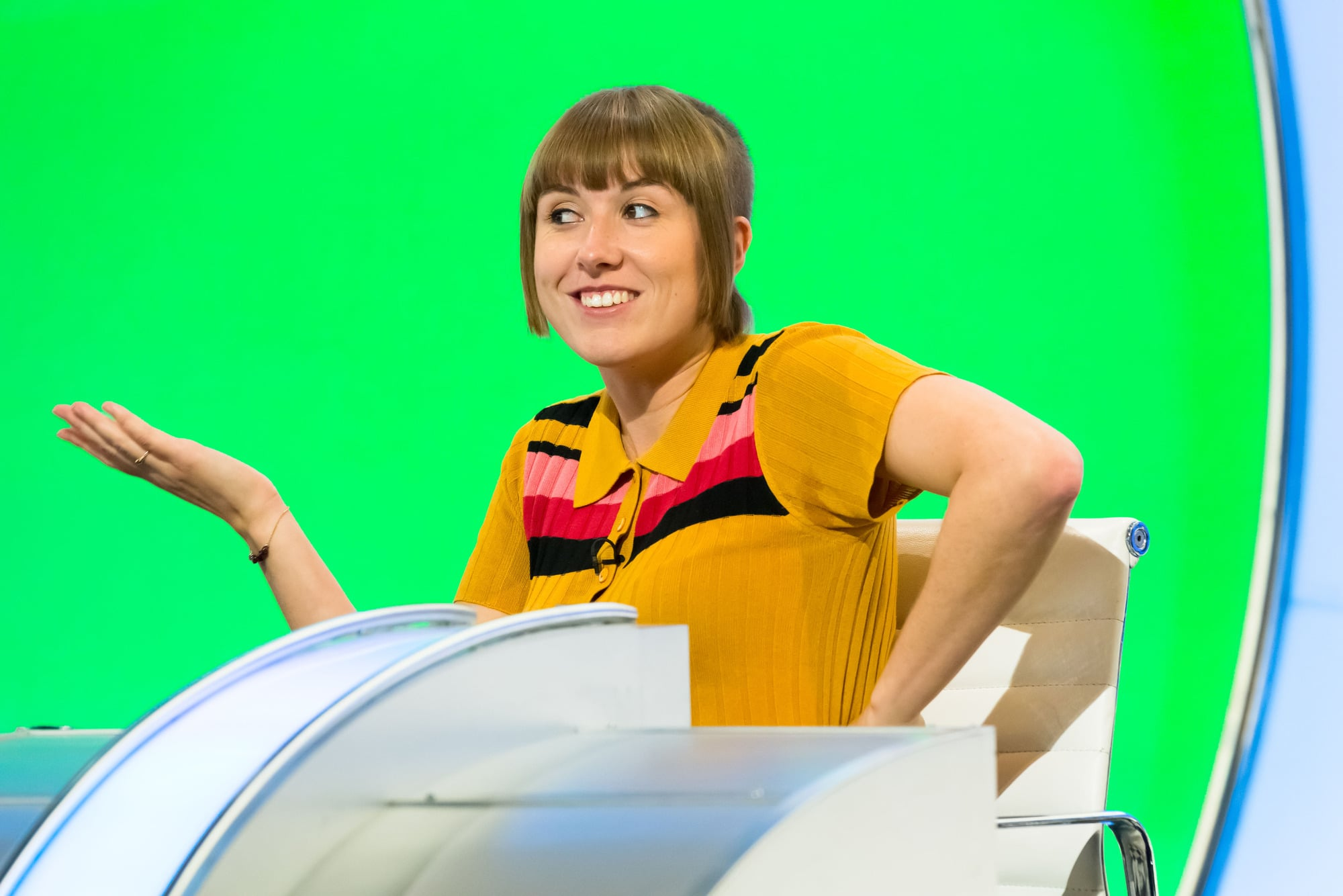 WARNING: Embargoed for publication until 00:00:01 on 05/01/2021 - Programme Name: Would I Lie To You?  - TX: 15/01/2021 - Episode: Would I Lie To You? S14 - Ep2 (No. 2) - Picture Shows: **STRICTLY EMBARGOED NOT FOR PUBLICATION BEFORE 00:01 HRS ON TUESDAY 5TH JANUARY 2021** Maisie Adam - (C) Endemol Shine - Photographer: Ellis O'Brien