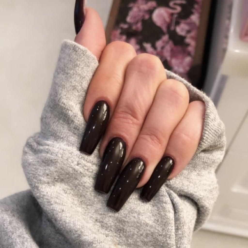 Khloe Kardashian Dark Nail Polish Colour