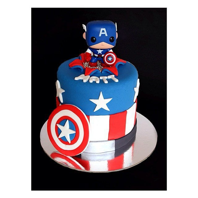 Captain America Unique Birthday Cakes For Baby And Toddler