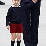 Shorts are typically worn by boys in the royal family until the age of 8.