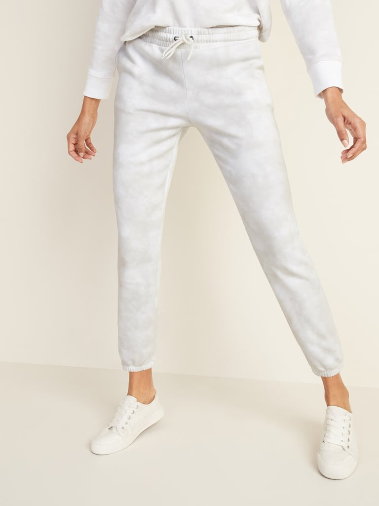 French Terry Cinched-Hem Joggers