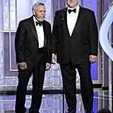 Tony Mendez presented Argo with John Goodman.