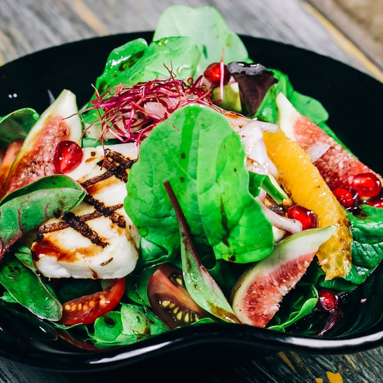 Rocca Salad With Grilled Halloumi
