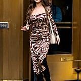 Selena Gomez Looks Incredible in This Tiger-Print Dress