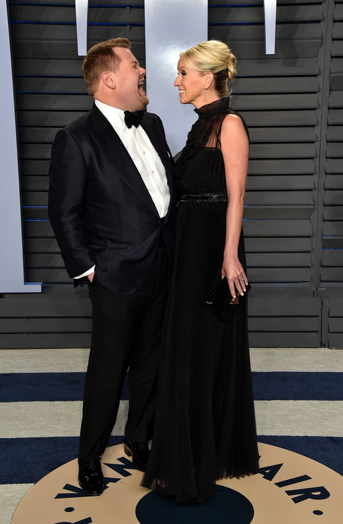 Pictured: James Corden and Julia Carey