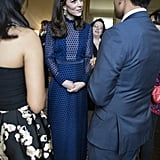 Kate Middleton in Saloni Gown at Palace Reception