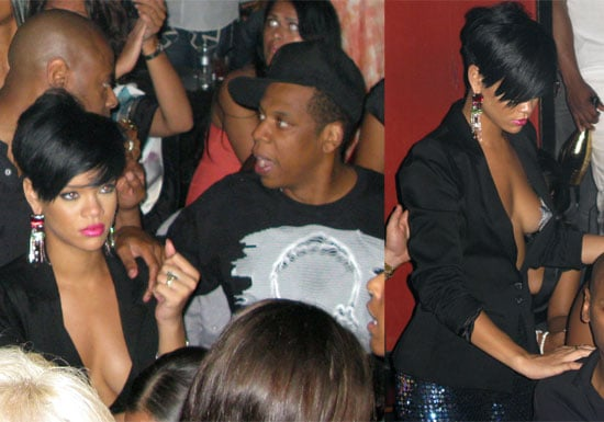 Photos of Rihanna in Bikini, Partying with Jay-Z