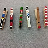 Festive Clothespin Magnets