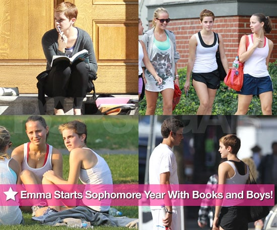 Pictures of Emma Watson at Brown University During Her Sophomore Year