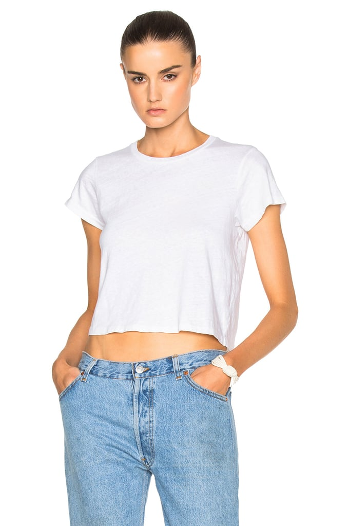 5a042dcc507 Re/Done x Hanes 1950s Boxy Crop Tee   What to Wear on a Plane ...