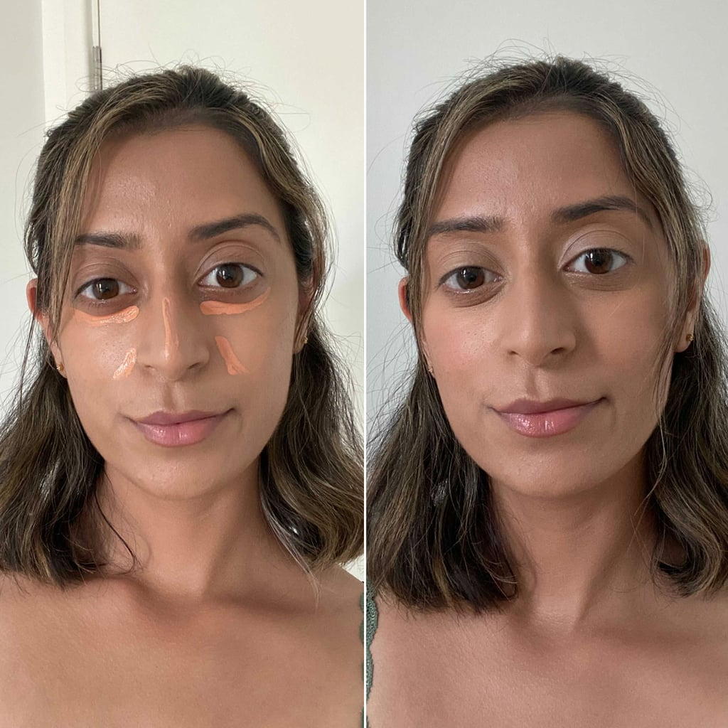 Assistant Editor Navi Ahluwalia layered the  Nars Radiant Creamy Color Corrector in Medium (£24) underneath the Nars Creamy Concealer in Praline (£24.50).