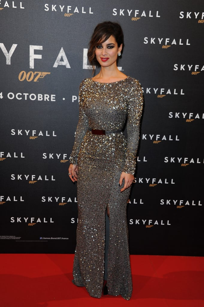Bérénice Marlohe posed on the red carpet for the Paris premiere of Skyfall.