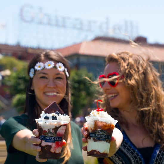 Ghirardelli Summer of Love Haight Ashberry Sundae