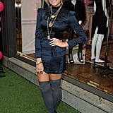 Pixie Lott rocked some over the knee socks at Juicy Couture.