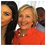 Kim didn't break the Internet in 2015, but she did end up taking this epic selfie with Hillary Clinton.