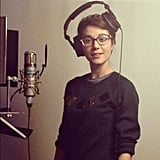 Mary Elizabeth Winstead gave us a look inside the recording booth. Source: Instagram user mewins