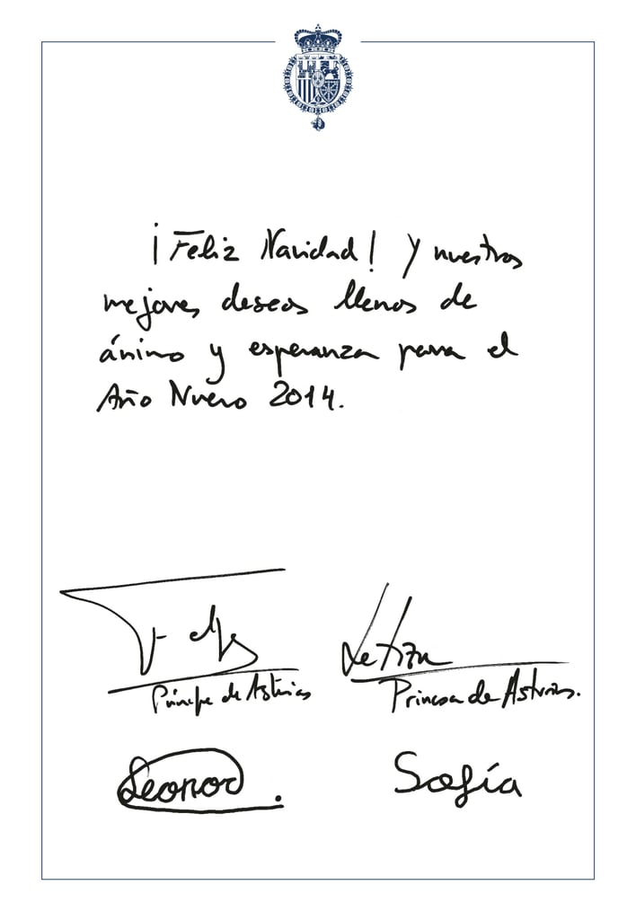 2013 | Spanish Royal Family Christmas Cards Through the Years ...