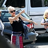 Gwen Stefani spent the afternoon with her boys.