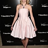 Before Taylor Momsen became all edgy, she was into pink and strapless dresses too.