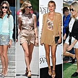 Celebs take on the scalloped-shorts trend and make us want to too.