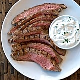 Greek Yogurt Garlic Marinated Flank Steak