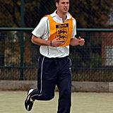 The royal played football at Westgate Community College in October 2007.