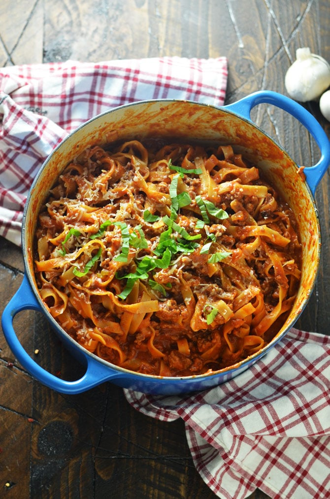 1-Pot Pasta Bolognese