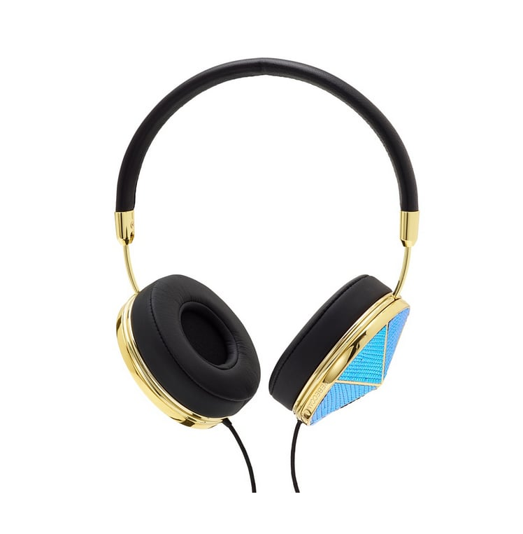 Headphones are just another chance to accessorize. Friends with Benefits has been making sleek and stylish pairs for awhile, and its recent partnership with Rebecca Minkoff turned out an embellished blue pair ($250) that basically allows you to skip all over jewelry for the day. — LM