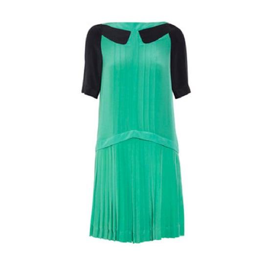 Pleated Silk-Crepe Mini Dress