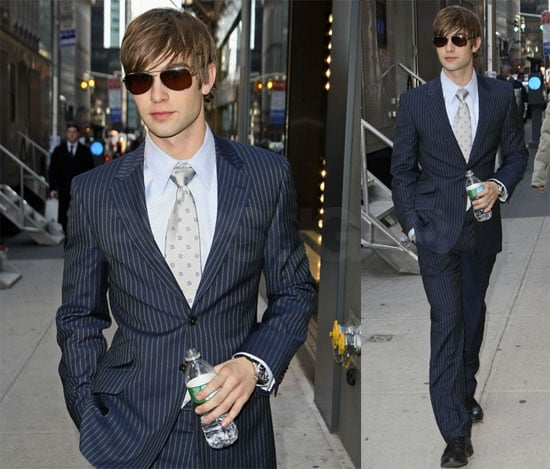 Chace on The Set of Gossip Girl