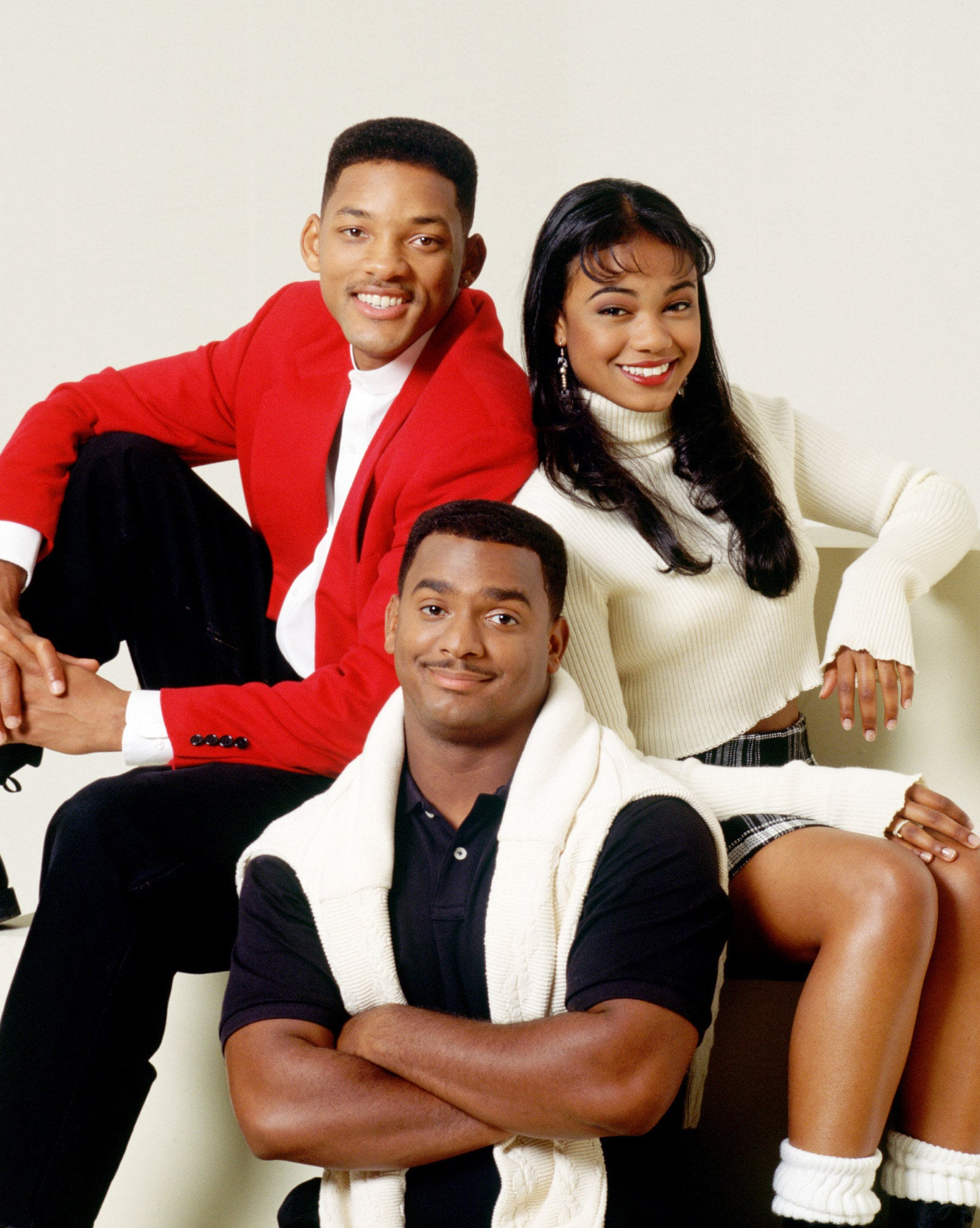 THE FRESH PRINCE OF BEL-AIR, Will Smith, Alfonso Ribeiro, Tatyana Ali (1996-Season 6), 1990-96, (c)NBC/courtesy Everett Collection