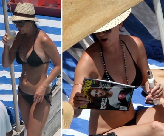 Katy Perry Bikini Pictures Reading About Robert Pattinson