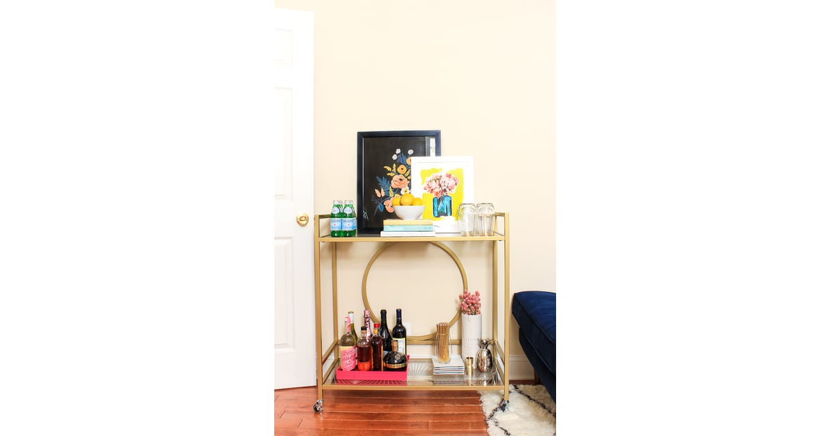 A bar cart design influencers 39 living room style for Home design influencers