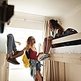 Consider a hostel or a vacation rental home instead of a hotel.