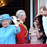 During the Trooping the Colour in June 2018, Charles went out of his way to speak to Meghan and Harry on the balcony of Buckingham Palace.