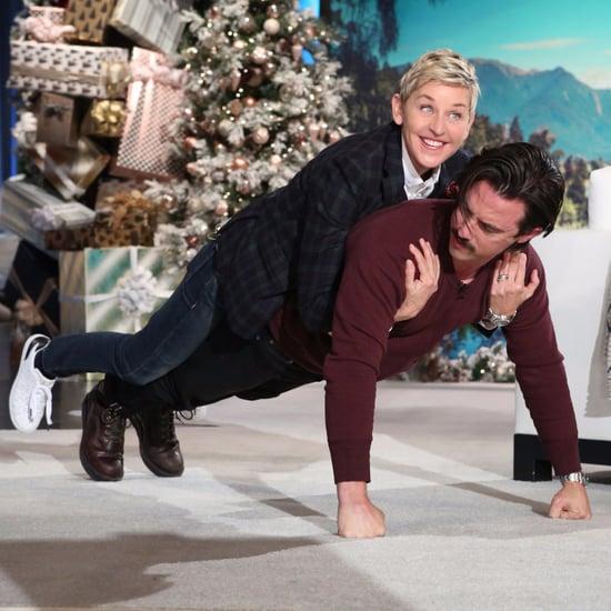 Milo Ventimiglia and Ellen DeGeneres Push-Ups