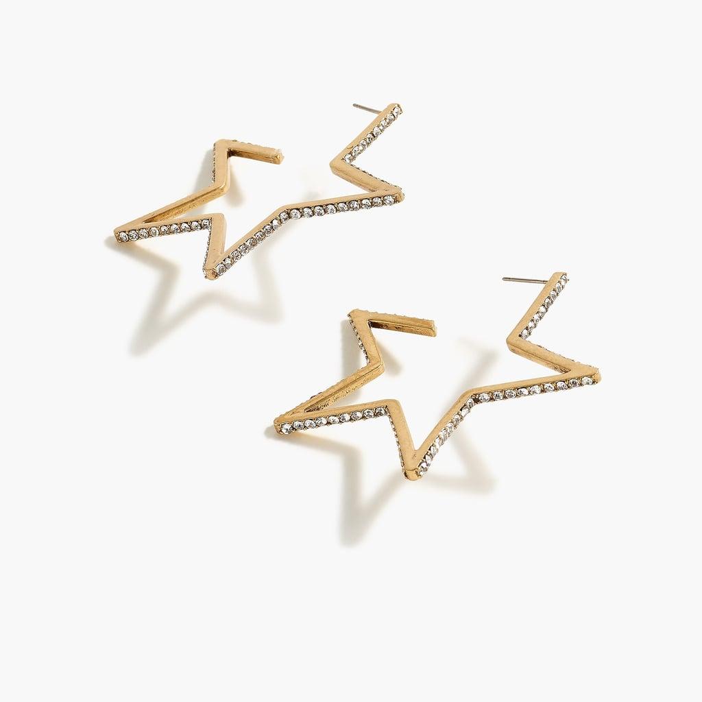 Star Outline Pavé Earrings