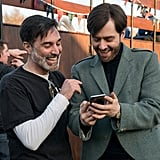 Roger (aka Richard Rankin) with a cellphone? Say what?!
