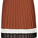 Topshop Stripe Hem Pleat Skirt ($105)