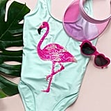 Sequin Flamingo One-Piece
